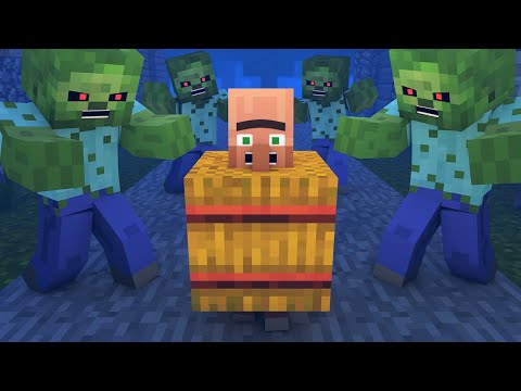 Zombie vs Villager Life 0 - Alien Being Minecraft Animation