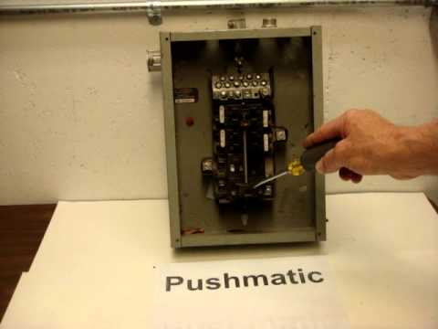 Pushmatic Circuit Breaker Box