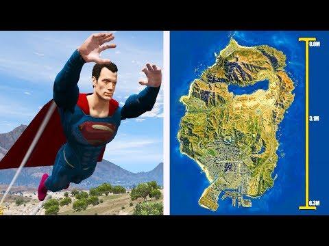 Quanto tempo o SUPERMAN leva para atravessar Voando o MAPA do GTA V?