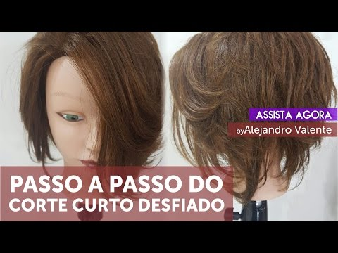Corte De Cabelo Curto Desfiado Passo A Passo By Alejandro