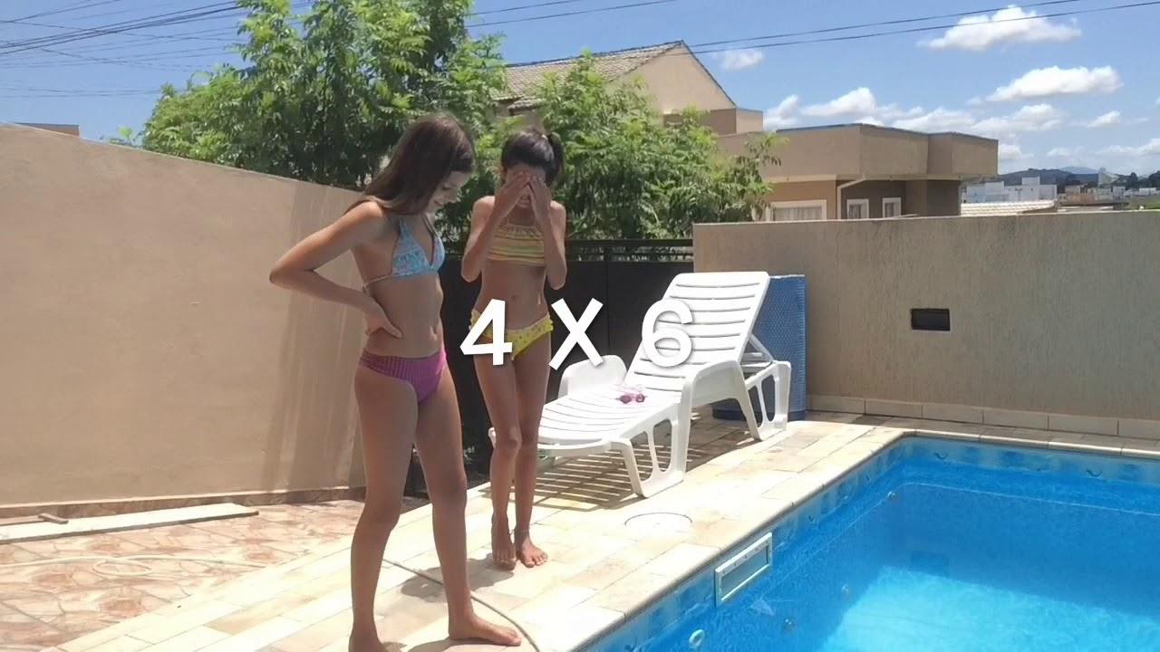 Desafio da piscina - Carol lopes feat. Isabela Martins