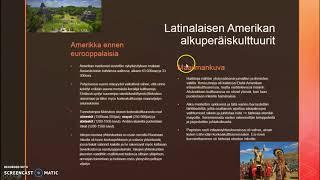 Latinalaisen Amerikan alkuperäiskulttuurit