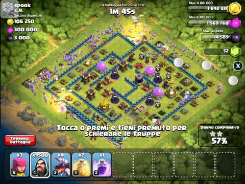 Clash Of Clans: 9999 Wizard Attack Raid