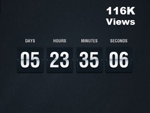 Countdown clock in JS using HTML & CSS | JavaScript Tutorials | Web Development Tutorials