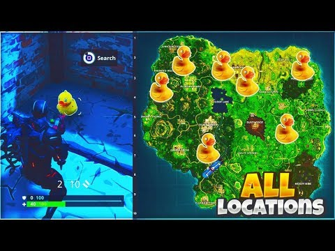 All Rubber Duckies Locations In Fortnite All Rubber
