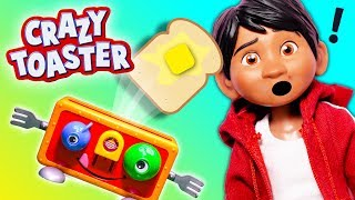 Playing the Mr. Toaster Game as Coco Miguel Plays Puppy Dog Pals