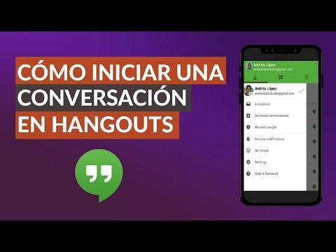 Cómo Iniciar o Empezar una Conversación con Hangouts