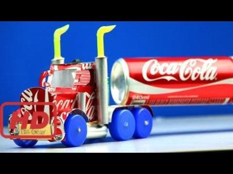 Cómo Hacer Un Camión De Coca Cola Con Motor De Corriente Continua Impresionante Camión De Coca Co Youtube