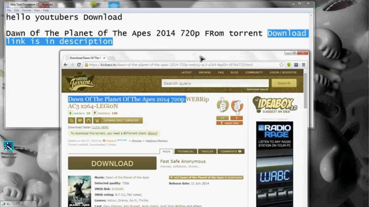 download planet of the apes 2014