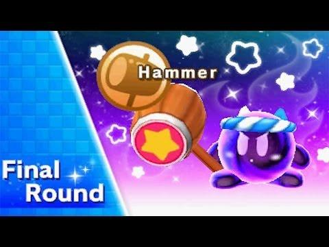 Kirby Triple Deluxe - Kirby Fighters (Very Hard) Walkthrough Part 1 - Hammer Ability