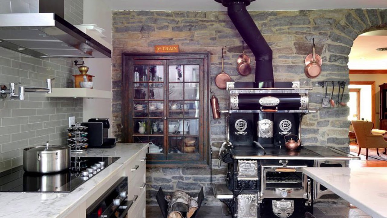 Amazing Kitchens With Stone Walls Best Images And Inspirations Youtube