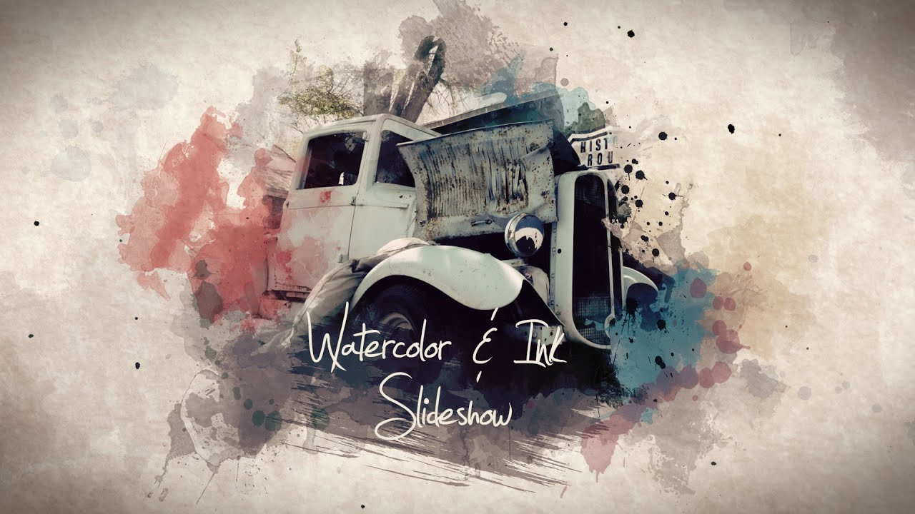 Watercolor & Ink Slideshow - After Effects Template - YouTube