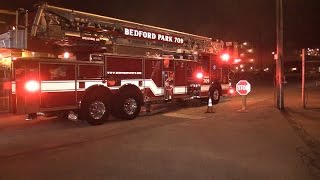 Mabas21 Bedford Park Fire Dept.Arrival Box Alarm Fire in The Factory-64th & Archer