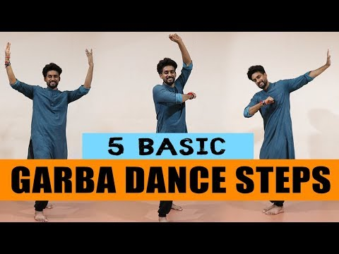 5 Basic Garba Dance Steps| Beginners | ABDC
