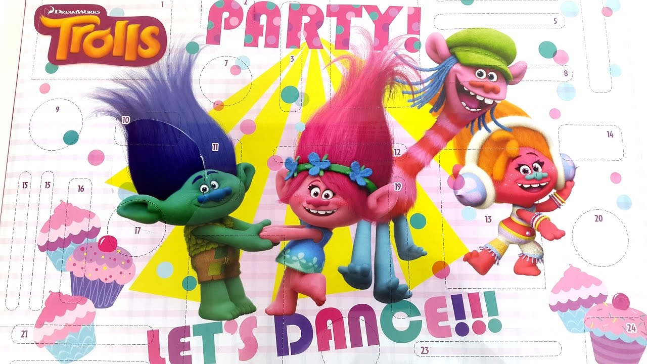 Trolls Advent Calendar Party Let's Dance Coloring ...