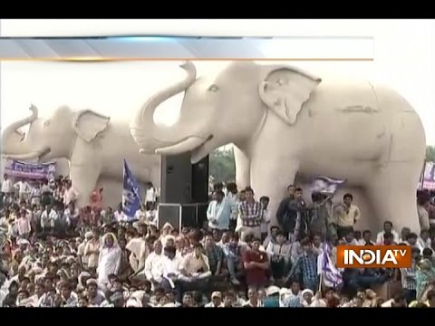 Large Crowd Gather for Mayawati's Rally in Lucknow