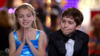 Talent Brother and Sister Magician Full Audition Clip S11E05-  Americas Got Talent 2016