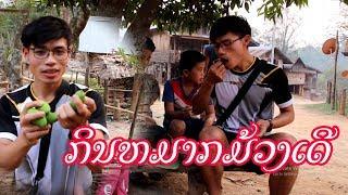 ກິນໝາກມ້ວງສະຕາຍບ້ານນອກ Ep6 Eat Mango in Laos