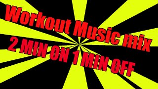 2 Minute on 1 minute off Workout interval training Music timer 20 mins
