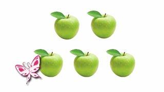 ЦИФРЫ 0-10. Сосчитай Яблоки. Карточки Домана