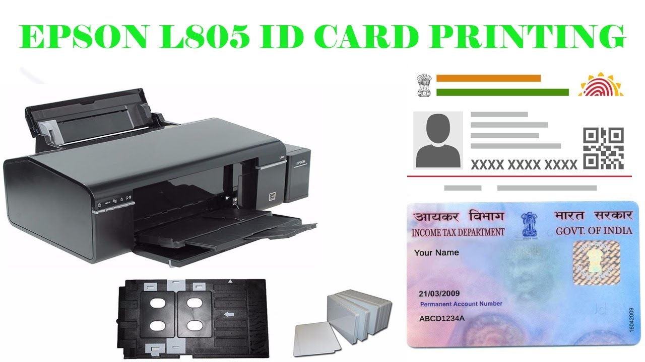 HOW TO PRINT PVC ID CARD EPSON L805
