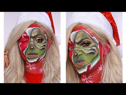 Recreating NikkieTutorials'  The Grinch...With a TWIST! | Toria Curbelo thumbnail