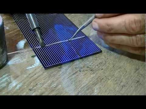 How to solder solar cells/ secret trick to get it to stick.