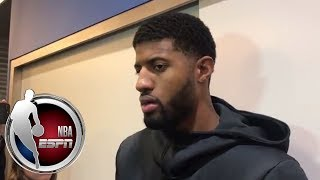 Paul George says 'For the talent we have, obviously this is not where we want to be' | ESPN
