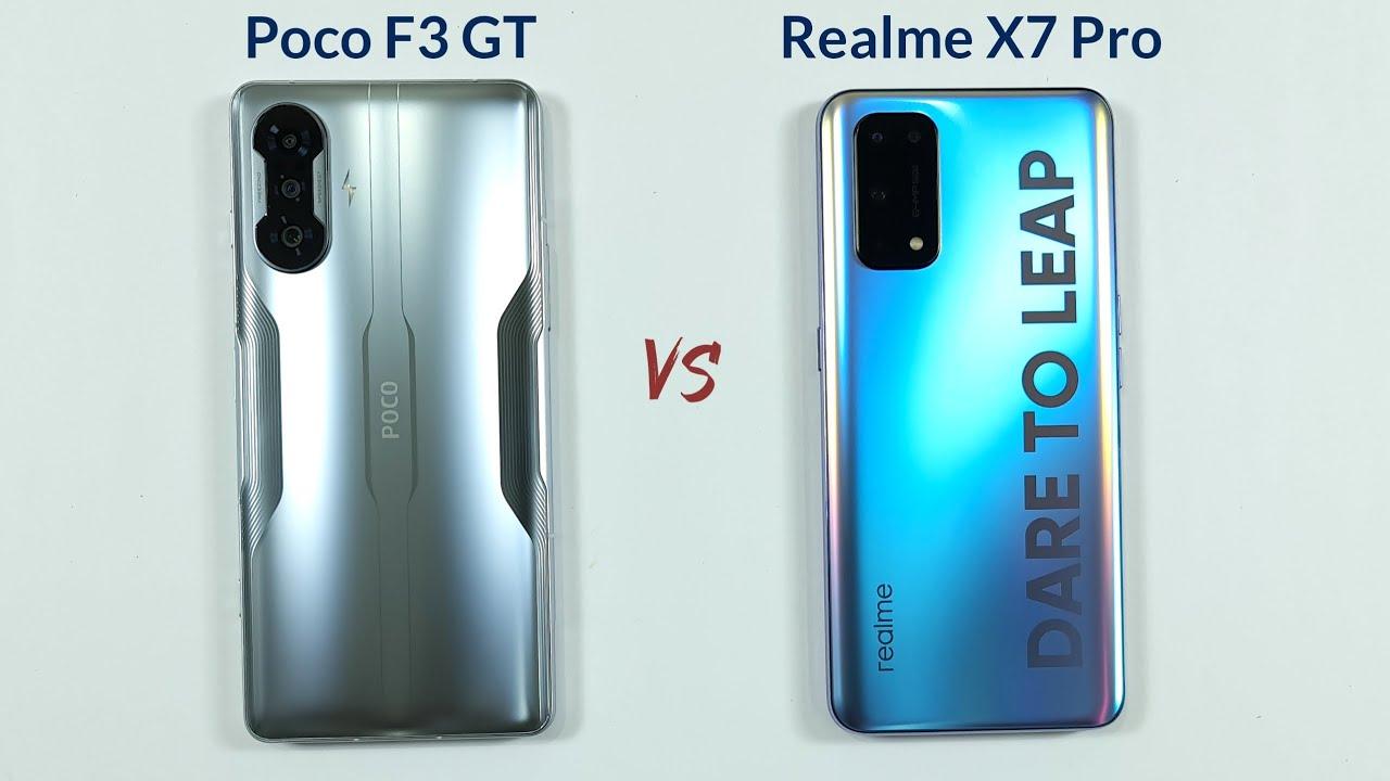 Poco F3 GT vs Realme X7 Pro Speed Test & Camera Comparison
