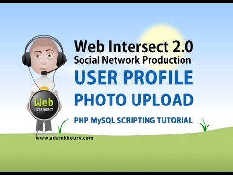 13. User Profile Photo File Upload HTML Form Tutorial PHP Parse Script MySQL