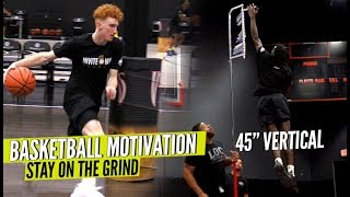 basketball motivation believe in the grind all hoopers must watch nico mannion vertical