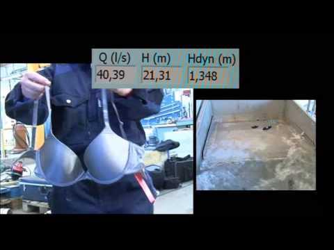 Flygt - Wastewater N-Pump Chopper Clogging Test