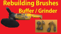 How To Rebuild Brushes Replace Polisher Grinder DIY Fix DeWalt Makita