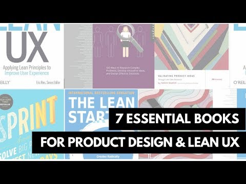 7 Essential Books for Product Design and LEAN UX
