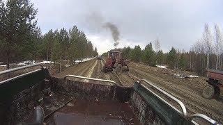 Трофи-рейд на тракторах по чаче. Real video