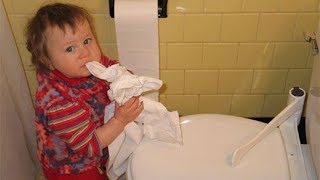 TRY NOT TO LAUGH - Baby Toys Are Toilet Paper Rolls ★ Funny Babies And Pets