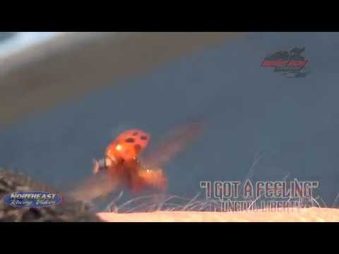 Lady Bug takes flight in Slow Motion at Utica Rome Speedway Music By UnCivil Liberty