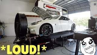 Nismo 370Z Makes THIS MUCH POWER With 2 MODS! * CAUTION LOUD *