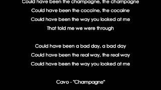 "[HD] Cavo - ""Champagne"" [AUDIO+LYRICS]"