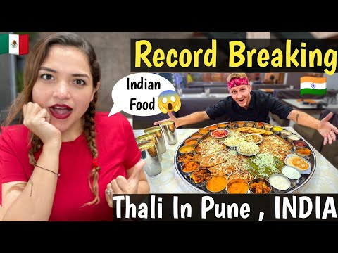 Record Breaking! Part 2 | Thali in Pune, India!!! (Matt Stonie Has No Chance) Indian Food | Reaction