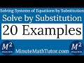 Solving systems of equations by substitution 20 examples mp3