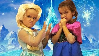 Prenses Anna ve Kraliçe Elsa  Kardan Adam Yapsak senle sahnesi  Evcilik TV