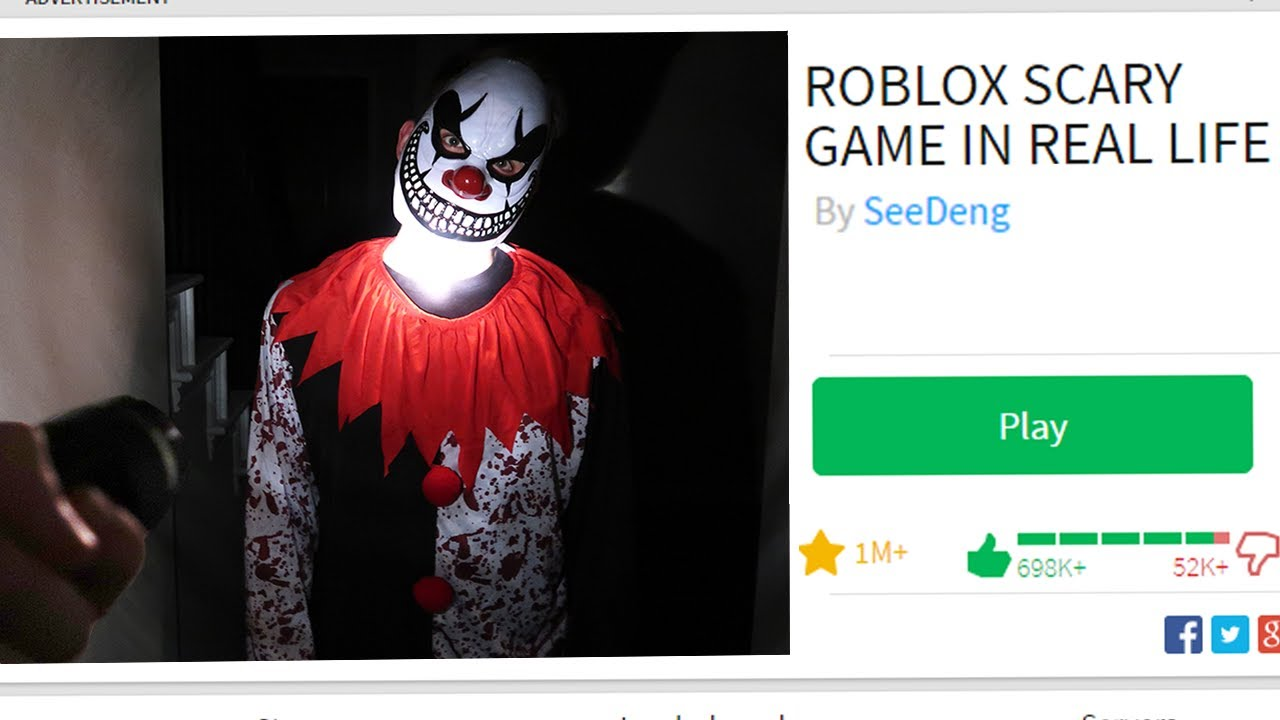 Playing A Roblox Scary Game In Real Life Youtube