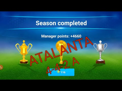 OSM Best Tactics 2018 with Atalanta / 4-4-2 win all trophe and dont lose game