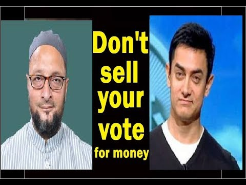 Don't Sell Your Vote For Money, By Aamir Khan, अपना वोट मत बेचो