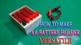 Comment Faire Pile AA Titulaire utilisation Polyvalente 3v - 6v - 9v -12v simple à la maison