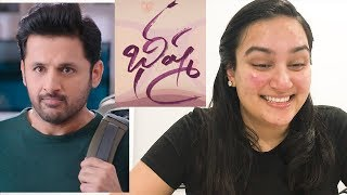 Bheeshma Official Teaser REACTION | Nithiin | Rashmika Mandanna | 😈