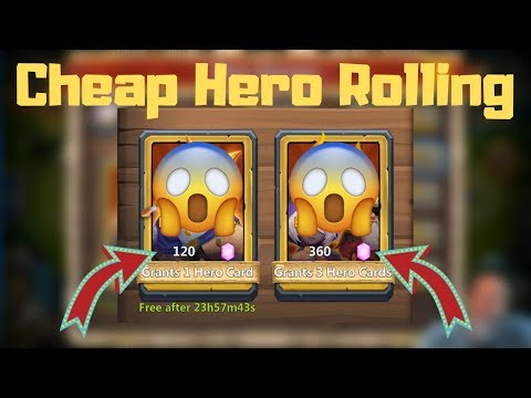 Heroes Rolling Is Cheaper Now!!! | Castle Clash