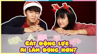 Cát động lực. Ai làm đúng hơn? | Kinetic sand. Who's Right and Who's Wrong? | Vannie Plus