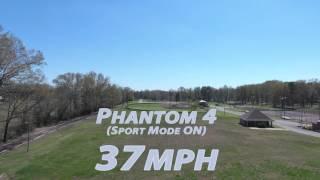 DJI Phantom 4 vs  Phantom 3 - Speed Test